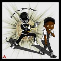 Zack the Black Power Ranger by DK-DarkKitty