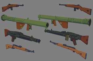 VGRemix - Stylized WW2 Weapons 02 by redroguexiii
