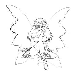 Fairy Lineart by V3r1t0