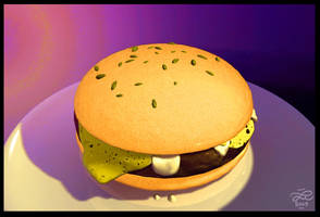 Have an ugly burger by Murklins