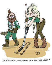Elves and technology by Murklins