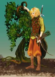 Laurels the tree-hugging elf by Murklins