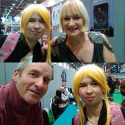 Meeting Hattie Hayridge and Chris Barrie by Londonexpofan