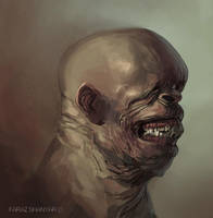 wrinkle man smile by shanyar