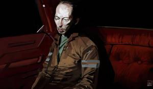 man in the car by shanyar