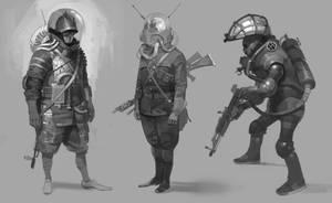 vintage bounty hunters by shanyar