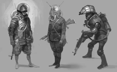 vintage bounty hunters by shanyar
