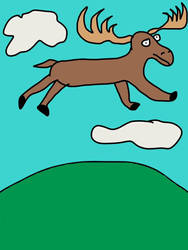 The Moose that believed he could fly by AnimeGeekGirl101