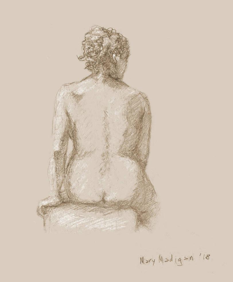 Art class sketch - Woman facing away by marypmadigan