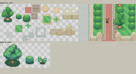Pokemon XY tiles by Burton-kun