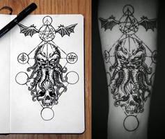 Cthulhu - Tattoo design by Jack-Burton25