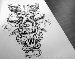 Cthulhu Demon - Tattoo Design by Jack-Burton25