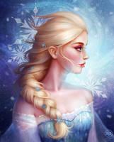 Queen Elsa by yaile
