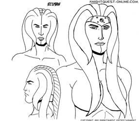 El'Lisah sketch by stjude90