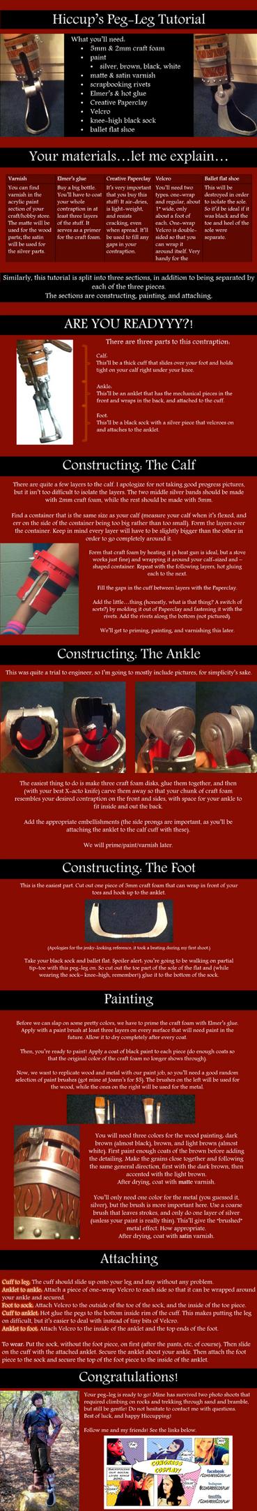 Hiccup's Peg-Leg/False Foot Cosplay Tutorial by oOPrincessLinkOo