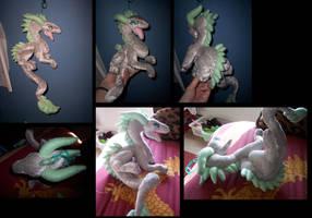 Silver dragon plush:: by CyanFox3