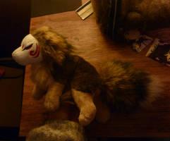 Little masked fox spirit WIP by CyanFox3