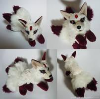 SOLD - Three tailed Gem kitsune - small floppy by CyanFox3