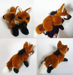 FOR SALE: Maned wolf - small floppy by CyanFox3