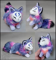 Commission: Blue lotus kitsune by CyanFox3