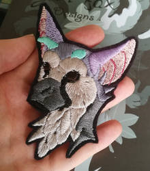 Trico bust ~ embroidered patch by CyanFox3