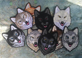 Alpha wolves small ~ embroidered patches by CyanFox3