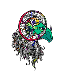 Rainbow Ram by dianabynight