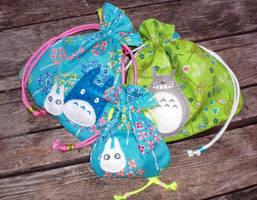 Totoro Drawstring Bags by 13anana