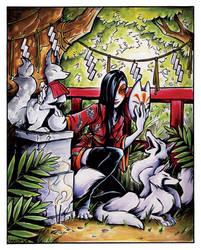 Fox Goddess by sinyx