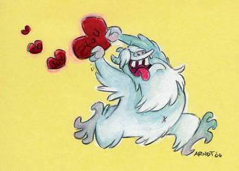 Yeti Valentine by sinyx