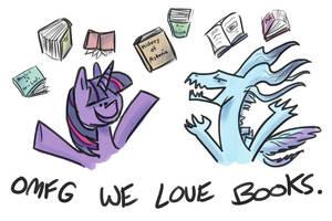 WE READ BOOKS by RomaniZ