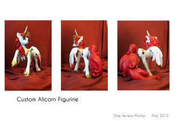 Custom Alicorn Figurine by MiiruFae
