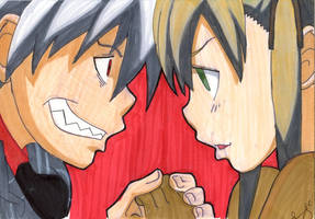 Maka and Soul--Soul Eater by lucygoosey13