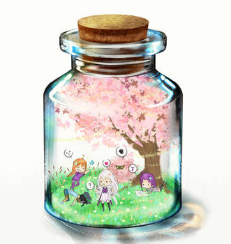 Girl... in a Bottle ! by HimeChie