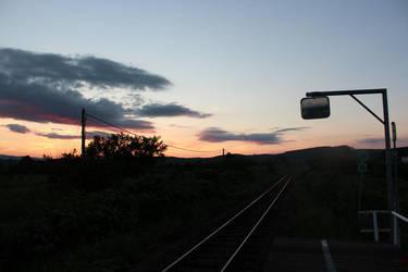 Railroad at Night by SumairiiSan