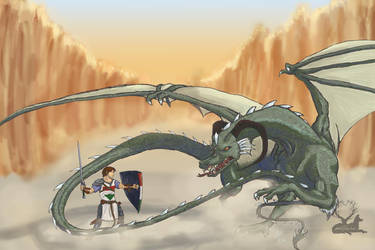 St George and the Dragon by chibiyin