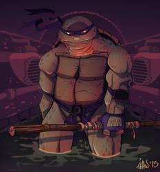 Ninja Turtles tribute to Donatello by leUEFFdeMUEFF