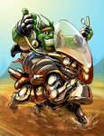 Weird biker by AxelMedellin