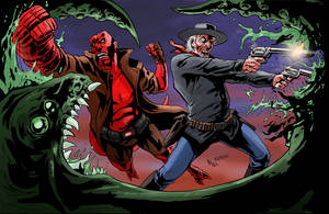 TLIID 91: Jonah Hex and Hellboy by AxelMedellin