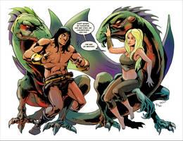 TLIID 92: Conan meets Daenerys by AxelMedellin