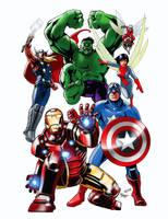 Avengers 50th anniversary by AxelMedellin