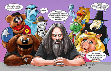 TLIID 152: Alan Moore in the Muppet Show by AxelMedellin