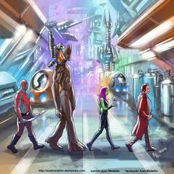 TLIID 228. Guardians of the Galaxy in Abbey Road by AxelMedellin