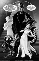 TLIID 314. Frankgrootstein and his Squirrel bride by AxelMedellin