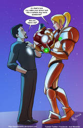 TLIID 380. Iron Man and Samus by AxelMedellin