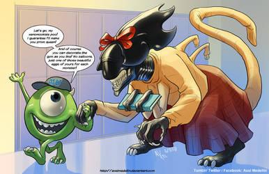 TLIID 408. The Alien Queen in Monsters University by AxelMedellin