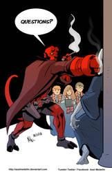 TLIID 420: Hellboy teaches in Hogwarts by AxelMedellin