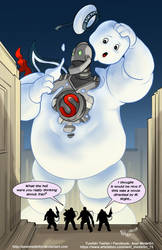 TLIID 426. The Iron Giant and The Staypuft man by AxelMedellin