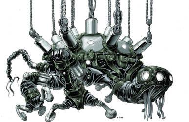 Cyber sadomasochist turtle by AxelMedellin