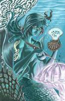 Mermaid secretary... by AxelMedellin